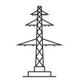 telephone pole icon outline style vector image vector image