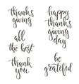 Thanksgiving day vintage gift tags and cards vector image vector image