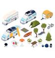 trailer park set vector image vector image