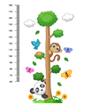 wall meter with three and wild animals vector image vector image
