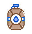 water flask icon outline vector image