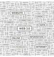 WEB3 0 vector image vector image