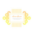 wedding invitation design template minimalistic vector image vector image