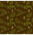 Ginkgo leaves seamless pattern vector image