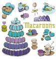 Macaroons and and Dessert Collection vector image