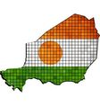 Niger map with flag inside vector image