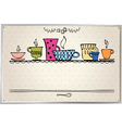 retro frame with cup vector image