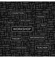 WORKSHOP vector image