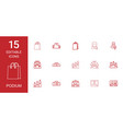 15 podium icons vector image vector image