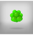 abstract molecule atoms 3d vector image vector image