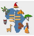 africa travel vector image