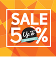 ale Uo To 50 Percent Banner vector image vector image
