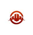 architectural construction logo real estate vector image vector image