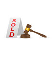 auction hammer icon in cartoon style isolated on vector image vector image