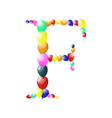balloon alphabets letter vector image vector image