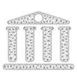 bank mesh 2d model vector image vector image