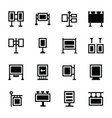 banner stands icon set vector image