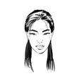 beautiful asian woman portrait young female face vector image