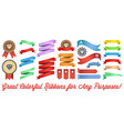 Big Set of Colorful Ribbons and Labels in Retro vector image vector image