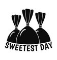 bonbon sweet day logo simple style vector image