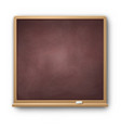 brown square chalkboard vector image vector image