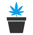 Cannabis Pot Icon vector image vector image