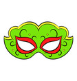 carnival mask icon cartoon vector image