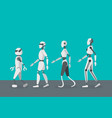 cartoon color android robots set vector image vector image