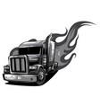 cartoon semi truck one-click repaint vector image vector image