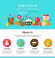 celebrate easter web design vector image vector image