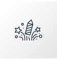 celebration icon line symbol premium quality vector image