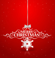 Christmas lettering greetings card vector image vector image