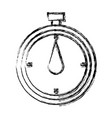 chronometer stop watch time clock vector image vector image
