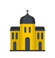 church architecture icon flat style vector image vector image