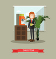 coffee house director in flat vector image vector image