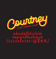 courtney cool modern script font vector image