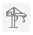 crane icon black vector image vector image