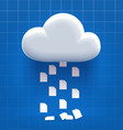 Downloading from cloud storage vector image