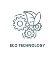 eco technology line icon linear concept vector image vector image