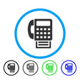 fax rounded icon vector image