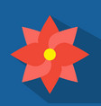 flat red flower vector image vector image