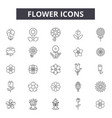 flower line icons signs set outline vector image vector image