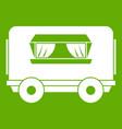 food trailer icon green vector image vector image