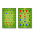 football tactic board magnetic board with vector image