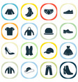 garment icons set collection of stylish apparel