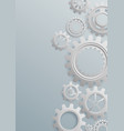 gears bckground on white background vector image vector image