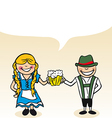 German cartoon couple bubble dialogue vector image vector image