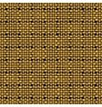 golden weave seamless background vector image vector image
