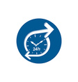 Graphic web 24 hours timer around-the-clock vector image vector image