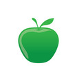 green apple icon logo image vector image vector image